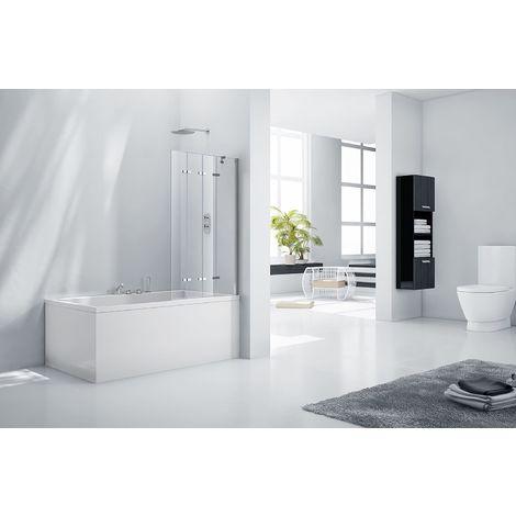 Aquaglass 6mm Frameless 4 Fold Bath Shower Screen - Left Hand