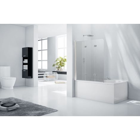 Aquaglass 6mm Frameless Tinted 3 Fold Bath Shower Screen - Left Hand