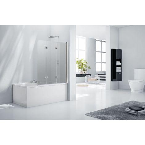 Aquaglass 6mm Frameless Tinted 3 Fold Bath Shower Screen - Right Hand