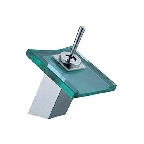 Aquahome - Grifo monomando lavabo modelo cascada cristal