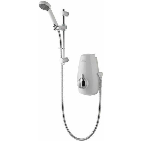"main image of ""Aqualisa Aquastream Thermostatic Power Shower White & Chrome"""