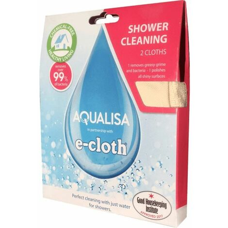 Aqualisa e-Cloth Shower Cleaning Kit - Two Pack (Clean & Polish)