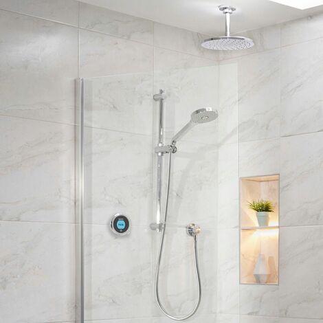 Aqualisa Optic Q Smart Shower Concealed Adjustable Head Fixed Ceiling Head