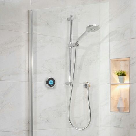 Aqualisa Optic Q Smart Shower Concealed Adjustable Head Gravity Pumped Chrome