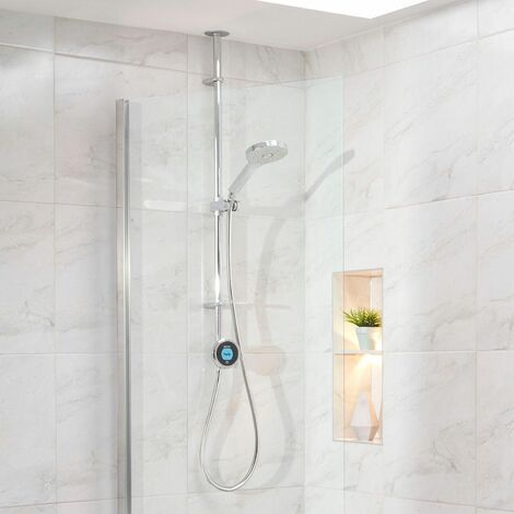 Aqualisa Optic Q Smart Shower Exposed Bath Overflow Filler Gravity Pumped Chrome