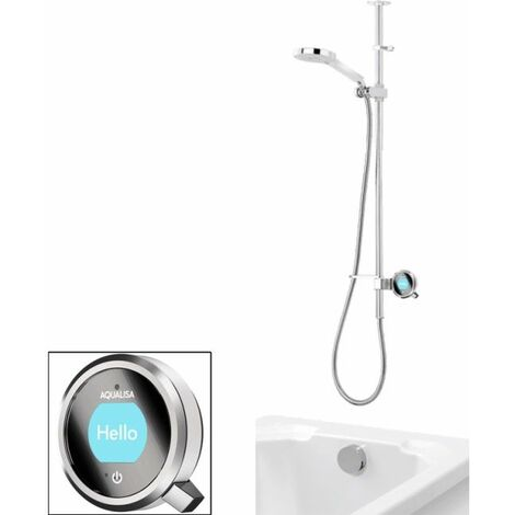 Aqualisa Q Digital Shower Exposed Bath Filler High Pressure/Combi
