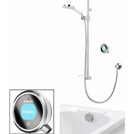 Aqualisa Q Shower Concealed Adjustable Head Bath Overflow Chrome