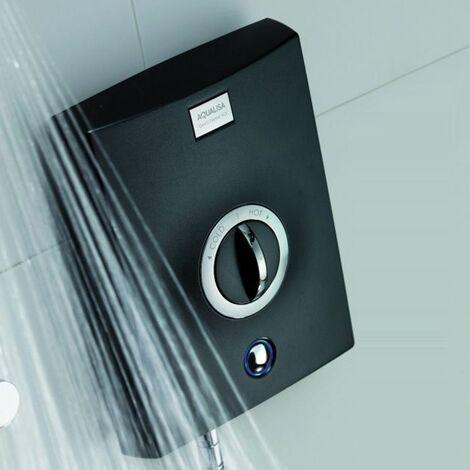 Aqualisa Quartz 9.5kW Electric Shower with Adjustable Height Head Chrome / Graphite