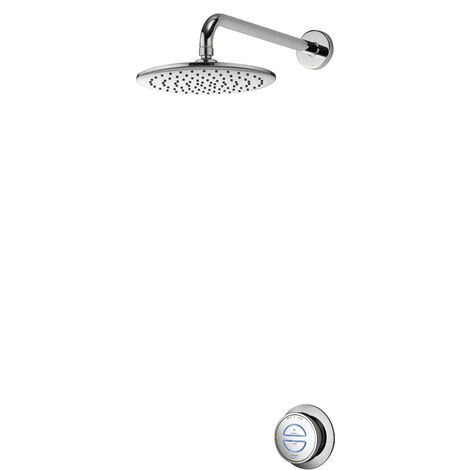 Aqualisa Quartz Digital Concealed Shower Fixed 250mm Head Gravity Pumped Chrome