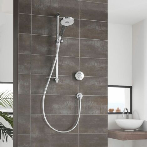 Aqualisa Unity Q Shower Concealed Controls Gravity Pumped Chrome Multi Spray