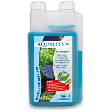 AQUALITY Aquarium Wasseraufbereiter (GRATIS Lieferung in DE - Macht aus Leitungswasser naturgerechtes Aquariumwasser - Schützt Ihre Fische - Ideal bei Neueinrichtung und Wasserwechsel)