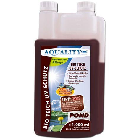 AQUALITY BIO Gartenteich UV-Schutz (Beugt Algenwachstum vor und sorgt bei starker Sonne für eine angenehmere Umgebung im Teich - wirkt wie ein Lichtfilter)