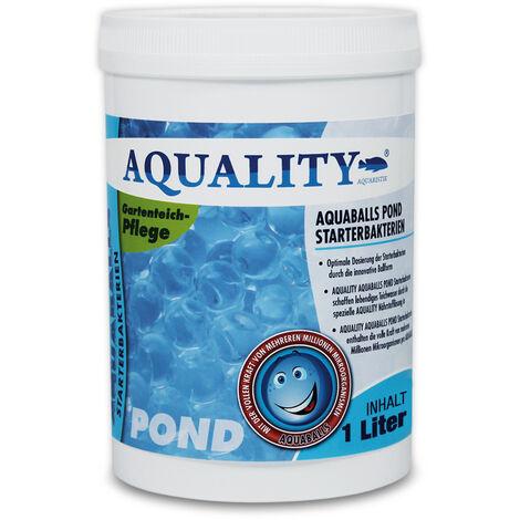 AQUALITY Gartenteich AQUABALLS Starterbakterien (Optimale Dosierung - Millionen effektive Mikroorganismen und nützliche Starterbakterien)