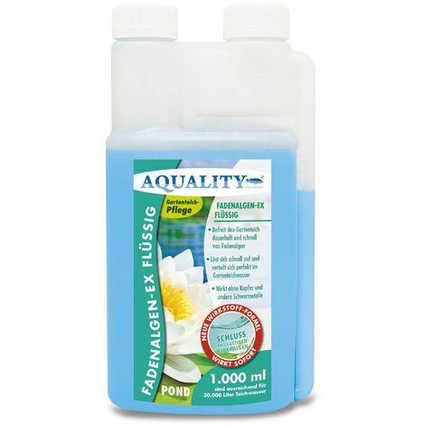 AQUALITY Gartenteich Fadenalgen-EX Flüssig (GRATIS Lieferung in DE - Flüssiger Fadenalgenvernichter, Algenmittel, Algenentferner. Löst Sich schnell im Teich auf)