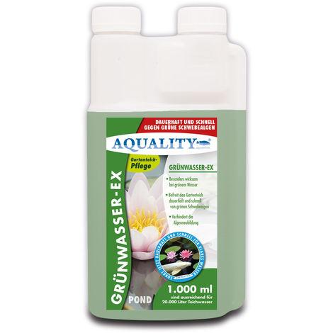 AQUALITY Gartenteich Grünwasser-EX (Besonders wirksam bei grünem Wasser, dauerhaft und schnell, grüne Schwebealgen, verhindert die Algen-Neubildung)