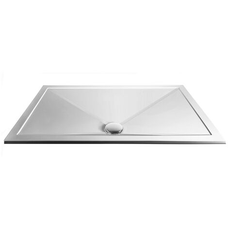 Aqualux AQ25 Sphere Anti Slip Rectangular Shower Tray 1400mm x 800mm - Stone Resin