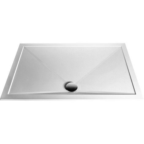 Aqualux AQ25 Sphere Anti Slip Square Shower Tray 800mm x 800mm - Stone Resin