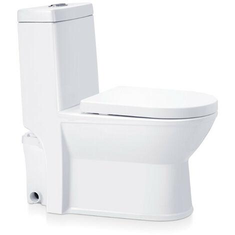 Aquamatix - WC broyeur 400W décharge horizontale 70 m 770x720x360mm - Elegancio 2