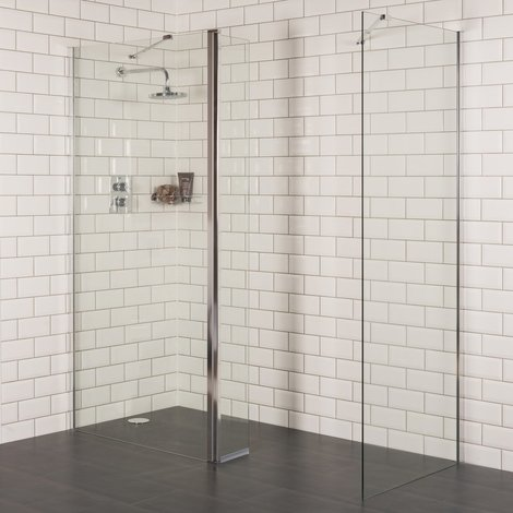 Aquariss 1000 x 800mm Wet Room Shower Enclosure with 8mm Easy Clean Glass