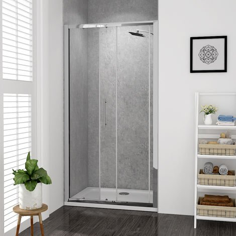 Aquariss 1000mm Sliding Door Shower Enclosure with Easy Clean Glass