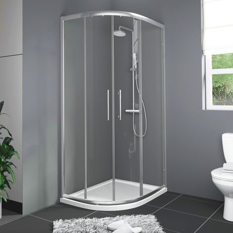 Aquariss 1200 x 900mm Offset Left Hand Quadrant Shower Enclosure with Easy Clean Glass- FREE Shower Tray & Waste