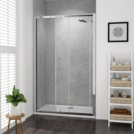 Aquariss 1200mm Sliding Door Shower Enclosure with Easy Clean Glass