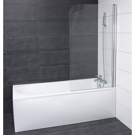 Aquariss 1400 x 800mm Frameless Bath Screen with Easy Clean Glass