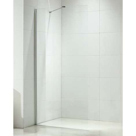 Aquariss 700mm Wet Room Shower Panel with 8mm Easy Clean Glass