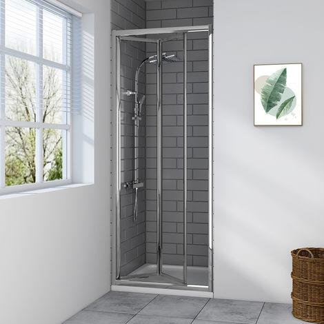 Aquariss 760mm Bi-Fold Shower Door with Easy Clean Glass