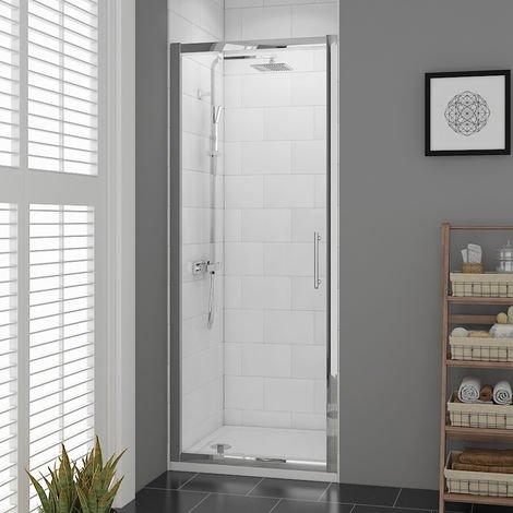 """main image of """"Aquariss 760mm Pivot Door Shower Enclosure with Easy Clean Glass"""""""