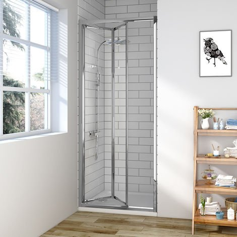 Aquariss 800mm Bi-Fold Shower Door with Easy Clean Glass