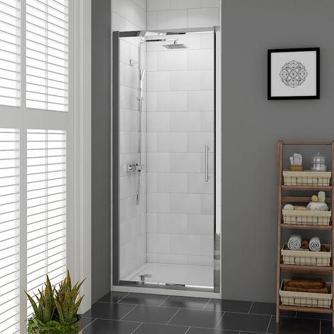 Aquariss 800mm Pivot Door Shower Enclosure with Easy Clean Glass