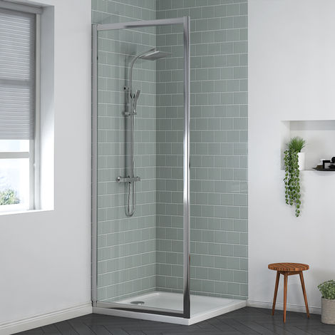 Aquariss 800mm Shower Enclosure Side Panel with Easy Clean Glass