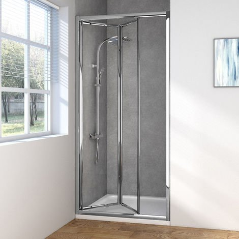 Aquariss 900mm Bi-Fold Shower Door with Easy Clean Glass