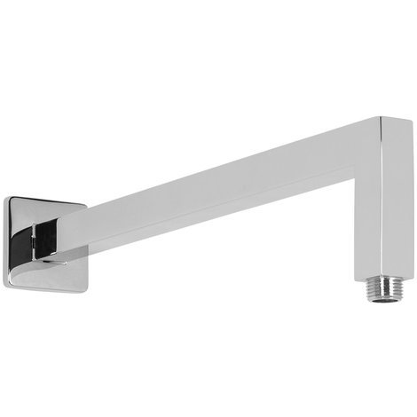 Aquariss Brass Square Shower Arm - Chrome