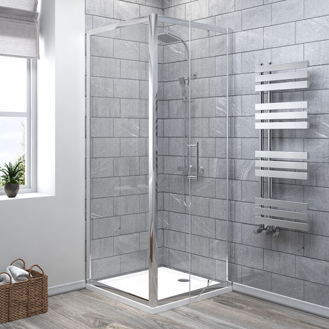 Aquariss Pivot Shower Enclosure with Easy Clean Glass - With Shower Tray & Waste
