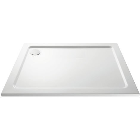 Aquariss Rectangle 1200 x 760 mm White Stone Shower Tray