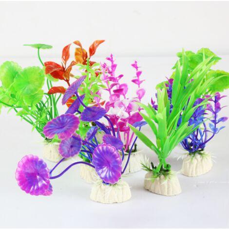 Aquarium aquarium plastic plants, 8 aquarium aquarium decorations, artificial aquarium aquarium decorations (random style)