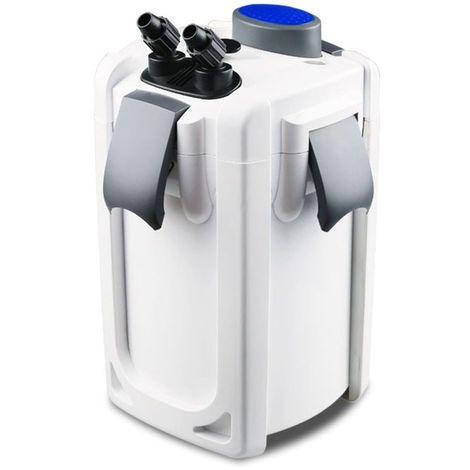 Aquarium Außenfilter HW-703B 30W 1400 L/h bis 700l Becken +Filtermaterial +UVC