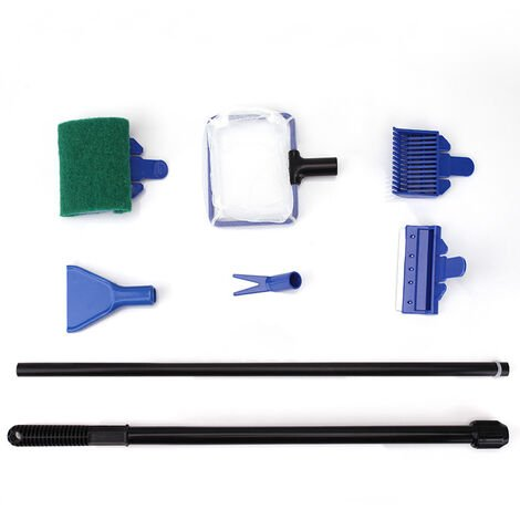 """main image of """"Aquarium cleaning kit 6 in 1 with fish fillet, gravel rake, plant clip, squeegee, sponge and connector (6 in 1)"""""""
