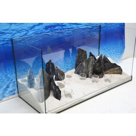 Aquarium Dekoration Komplettset Steine Deko Felsen Pflanzen Tropica Nr 108 4251377963962