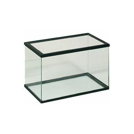 Aquarium en verre 30x15x20cm noir