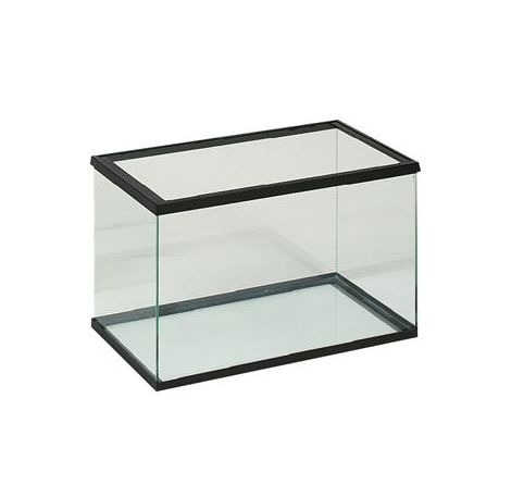 Aquarium en verre 50x25x30cm noir