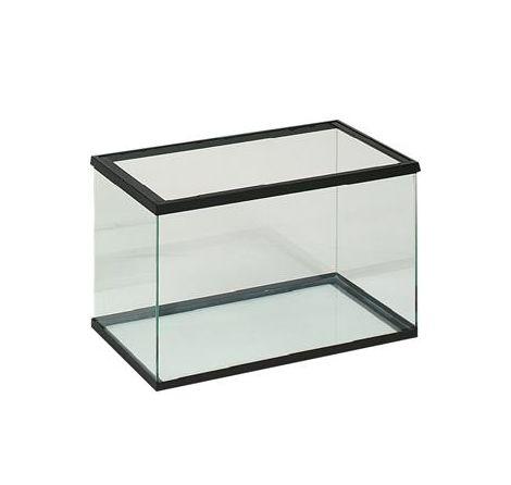 Aquarium en verre 60x30x35cm noir