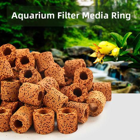 Aquarium Filter Media Ring Bio Ring for Aquarium Filter 50PCS
