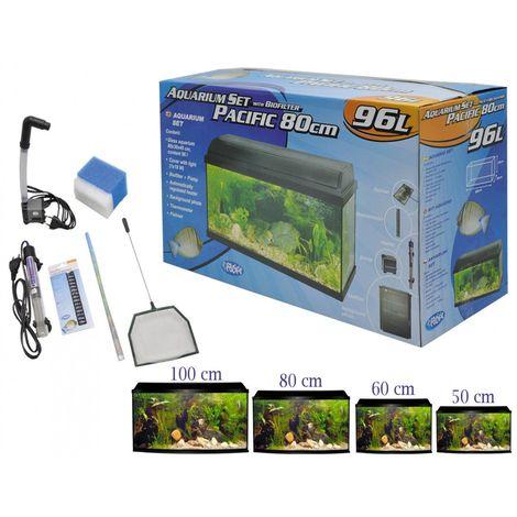 Aquarium kit + bio filtre pacific 100x30x40cm 120L