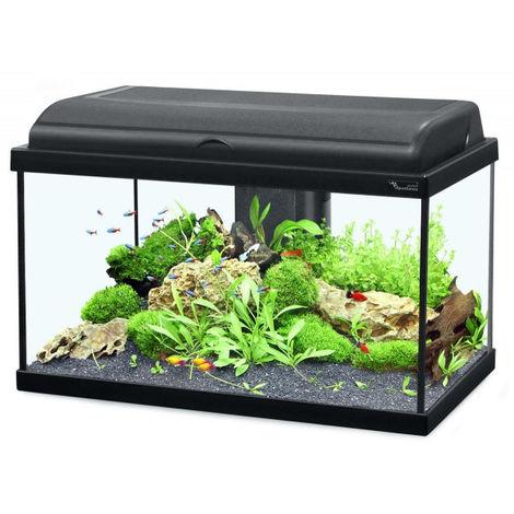 Aquarium noir Aquadream Aquatlantis Modèle 80 LED Contenance 79 litres