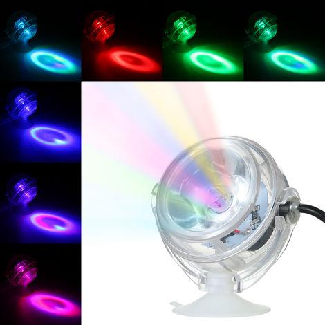 Aquarium Waterproof LED Spotlight Submersible Light Convex Lens Design