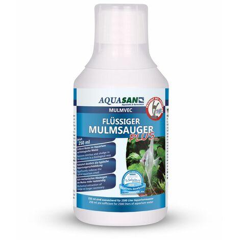 AQUASAN Aquarium Mulmvec Flüssiger Mulmsauger (Keine Mulmglocke + mechanisches Absaugen von Mulm, Schlamm im Aquarium mehr nötig, reduziert Aquariumgeruch)