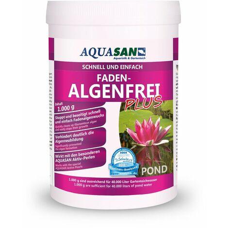 AQUASAN Gartenteich ALGOLESS Faden-Algenfrei PLUS (Beseitigt schnell und stoppt Fadenalgen im Teich. Der Fadenalgen-Entferner, Fadenalgen-Vernichter, Fadenalgen-Mittel)